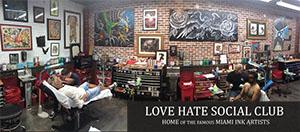Love Hate Tattoo Shop Miami