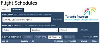 Toronto Pearson Departures